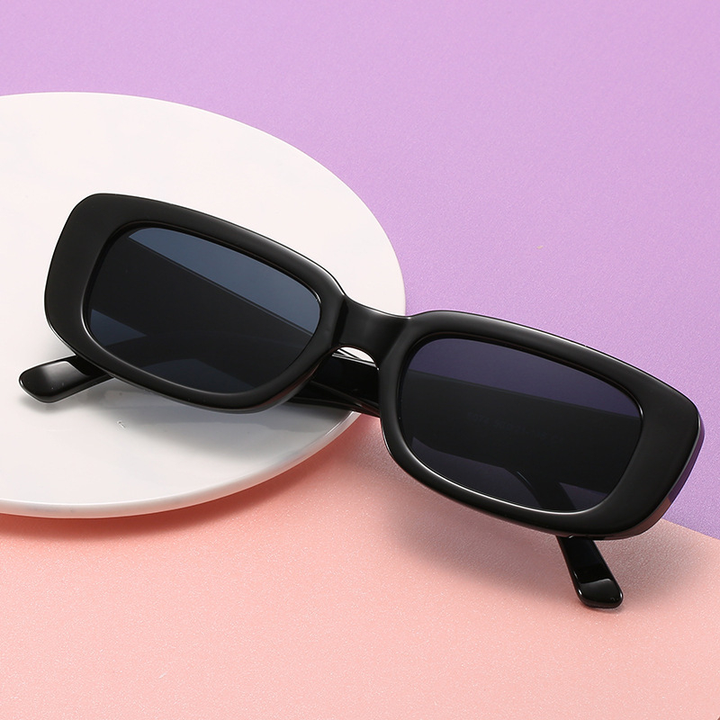 Vintage Schwarze Quadrat Sonnenbrille Frauen Luxus Marke Kleine Rechteck Sonnenbrille Weibliche Gradient Klaren Spiegel Oculos De Sol