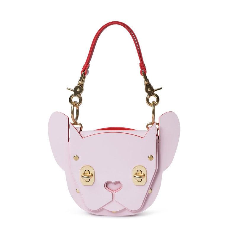 Angelatracy 2018 nouveau Style européen mignon Mini mode français serrure Rivet doux dame bulldogs femmes fille sacs fourre-tout sac à bandoulière