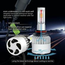 цена на 2pcs H1 Led Car Headlight H4 High/Low Beam Led Bulbs COB Chips  H7   H11 H13 H1 9005 9006 LED Fog Light 6500K 72W 8000LM
