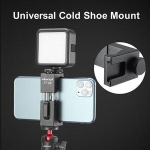 Image 3 - Ulanzi Soporte de Metal para teléfono móvil, Clip de soporte para teléfono móvil con zapata fría para micrófono Go inalámbrico Rode para iPhone 11 Pro Max Samsung Huawei
