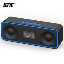 High Power Bluetooth Speaker with USB Flash Drive TF Card FM TWS Subwoofer 6W 1200mAh 10H Playback Bass Column