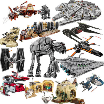 New Star Tie Fighter MicroFighters Wars The Rise of Skywalker With Building Blocks Legoinglys StarWars 75257 Toys For Children