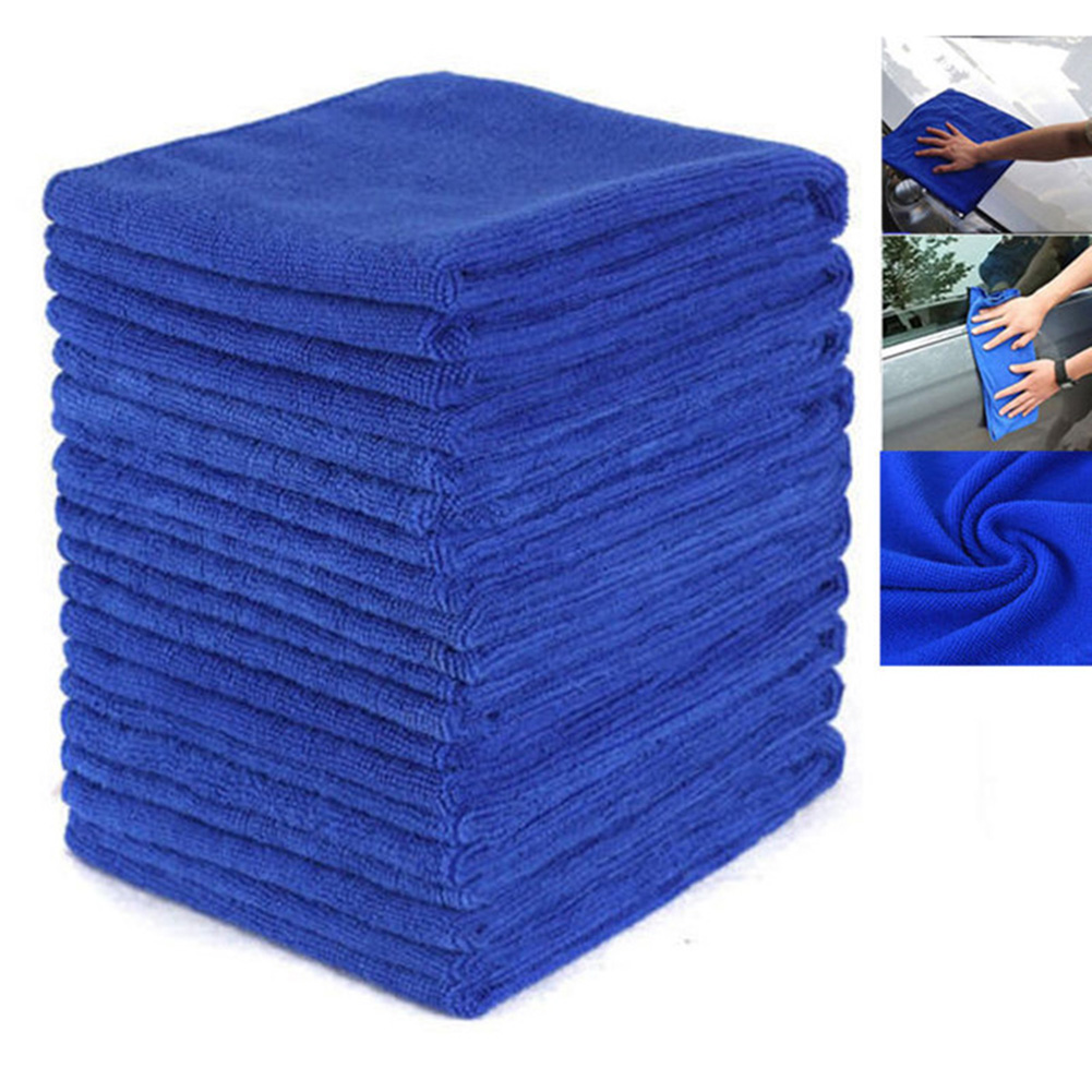 10pcs Microfiber Towel Kitchen Wash Auto Car Home Cleaning Wash Clean Cloth Durable And Practical To Use