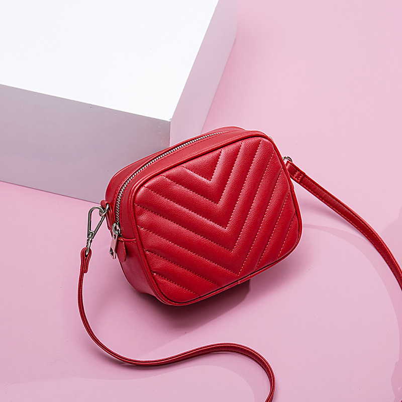 Lingge Fashion Leather Crossbody Shoulder Bags For Women Fashion Casual Famous Brand Female Handbags