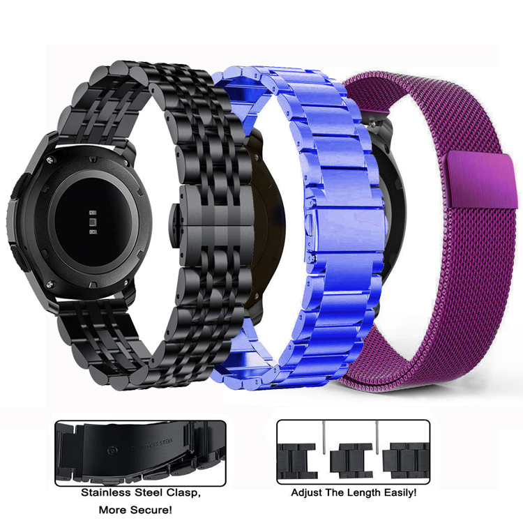 20mm 22mm watch strap for <font><b>Samsung</b></font> Galaxy watch <font><b>46mm</b></font> 42mm Active 2 Stainless Steel band Gear S3 Frontier nato strap bracelet image