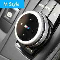 Coche Original botones Multimedia cubierta iDrive pegatinas para BMW 1, 2, 3, 5 y 7 de la serie X1 X3 F25 X5 F15 X6 16 F30 F10 F07 E90 F11 logotipo M