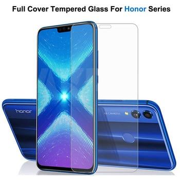 Перейти на Алиэкспресс и купить Защитное стекло 9H, закаленное стекло для Honor 9X 9A 9C 9S 8X 8A 8C 8S 9i 10i 20i 20S Play, прозрачное стекло, пленка