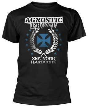 Agnostic Front Blue Iron cros (negro) Tops camiseta de calle de talla grande camiseta