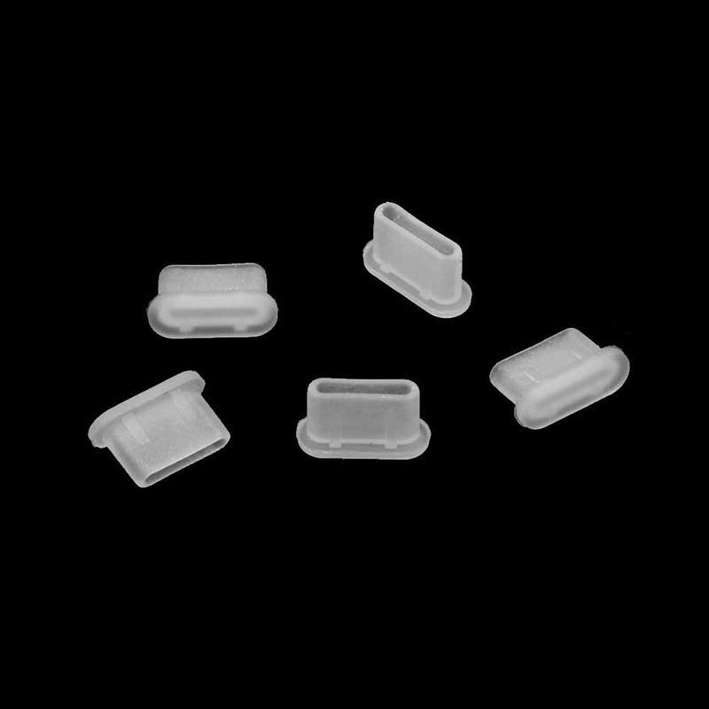 5 pces capa dustproof jack carregador plug tipo-c porta anti-poeira para o telefone móvel aug889
