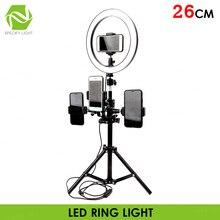 """1"""" 26 см светодиодный студийный кольцевой светильник для камеры Фото-камера кольцевой светильник со штативом USB разъем для держателя телефона макияж Youtube"""
