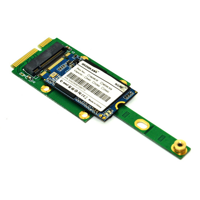 MSATA a M2 NGFF Adaptador convertidor tarjeta 6,0 Gb/s NGFF M2 SATA-Bus SSD B llave a mSATA macho elevador M2 adaptador para 2230-2280 M2 SSD