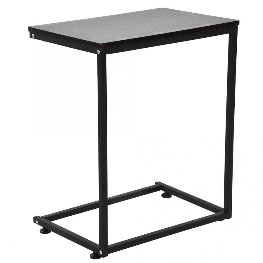 Sofa Side End Table Unique C Shape Desk