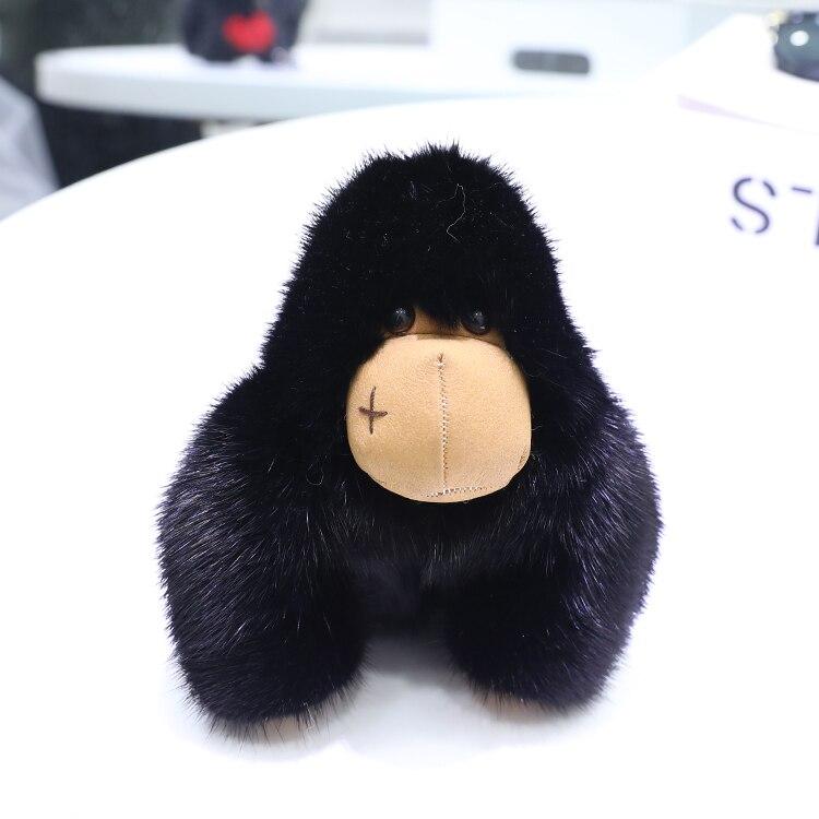Mink fur chimpanzee doll bag pendant car decoration key chain