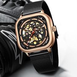 MEGALITH zegarek biznesowy mężczyźni automatyczny świecący zegar mężczyźni 2019 wodoodporne mechaniczne zegarki mężczyźni top marka relogio masculino 8202