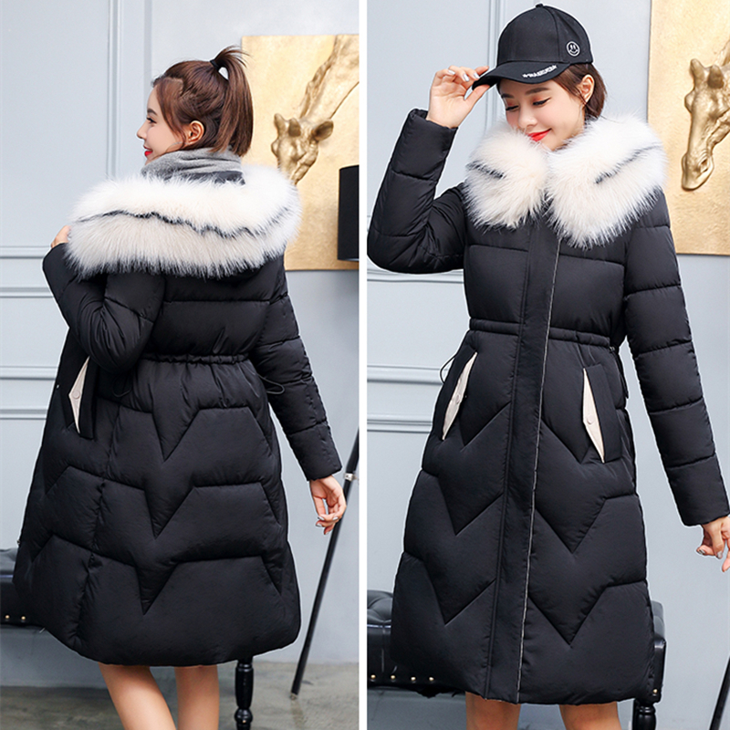 Womens Jackets Parka Long-Coats Thicken Padded Warm Slim Fashion Cotton New-Arrival