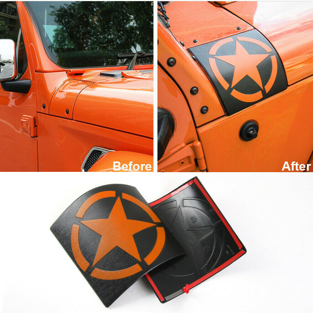 Car Cowl Body Armor Cover Exterior Accessories for Jeep Wrangler JK JKU 2007+