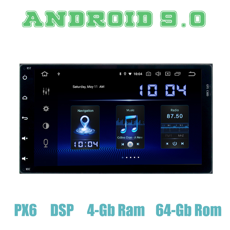 PX6 <font><b>Android</b></font> 9.0 Car GPS Radio for <font><b>toyota</b></font> <font><b>Corolla</b></font> Auris sienna Fortuner innova 2017 <font><b>2018</b></font> navigation with dsp 4+64GB Auto Stereo image