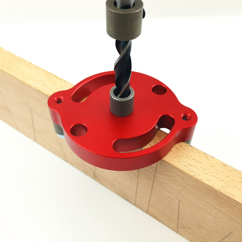 6/8/10mm Dowel Wood Panel Puncher Hole Jig Wood Dowelling Self Centering Drill Guide Kit Woodworking Hole Puncher Locator Jig