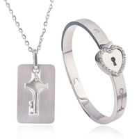 Buy 3 Customized Heart shaped Alloy women Bracelet plus unlock key at 5% OFF