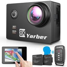 Yarber 8K Action Camera 20MP HD 40M Waterproof WIFI Action Camera 4K 60fps APP Remote Control Bicycle Helmet Sports Video Cam