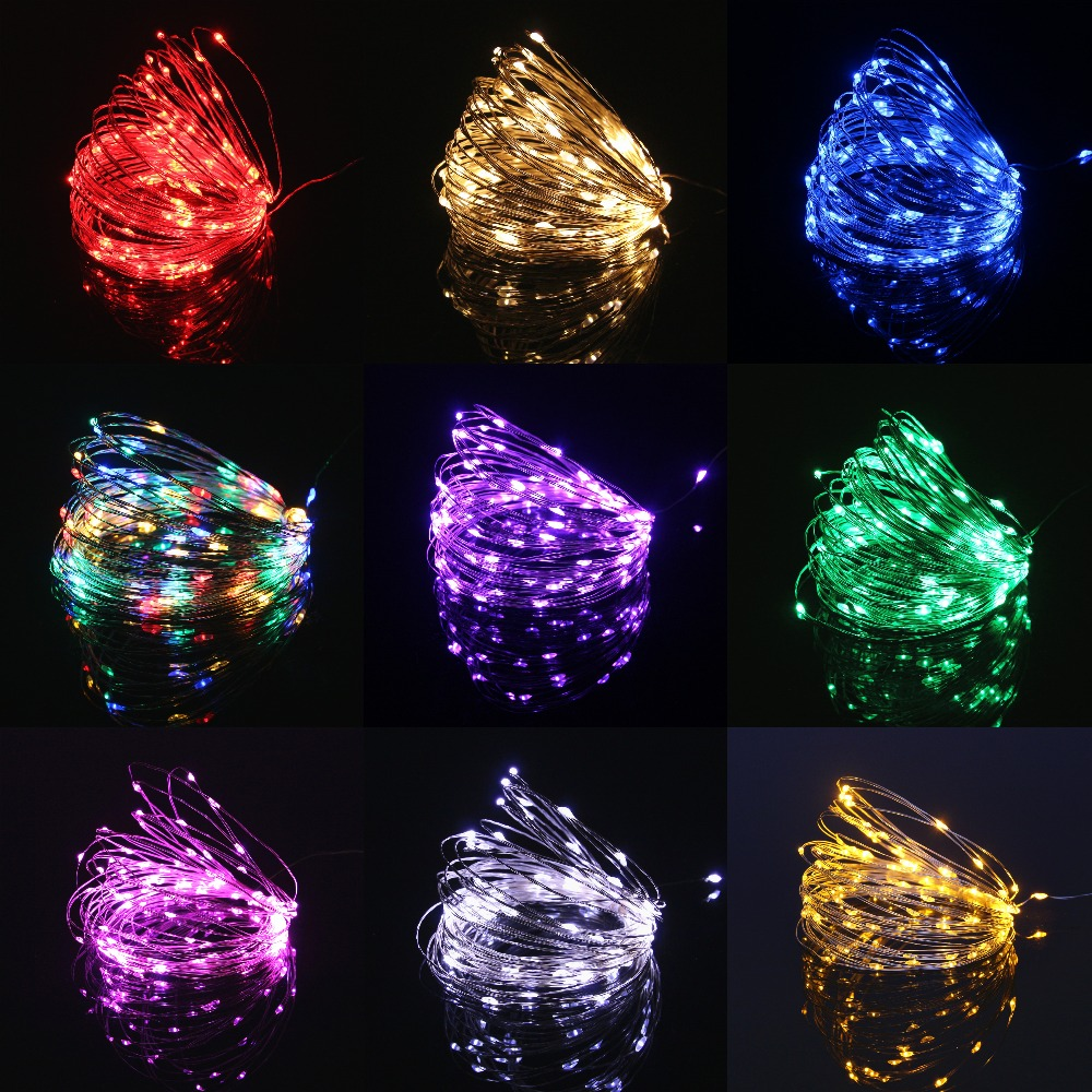 Fairy LED String Lights 10LED/M 10M 5M 2M 3XAA Battery Operated LED Holiday Light For Garland Party Wedding Christmas Decoration