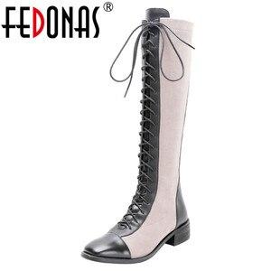 Image 1 - FEDONAS Kaliteli Karışık Renkler Hakiki Deri Kadın yarım çizmeler Klasik Yuvarlak Ayak Chelsea Çizmeler Yüksek Ayakkabı Kadın kısa çizmeler