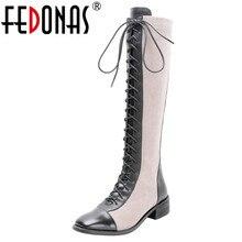 FEDONAS qualité couleurs mélangées en cuir véritable femmes bottines classique bout rond Chelsea bottes haute chaussures femme bottes courtes