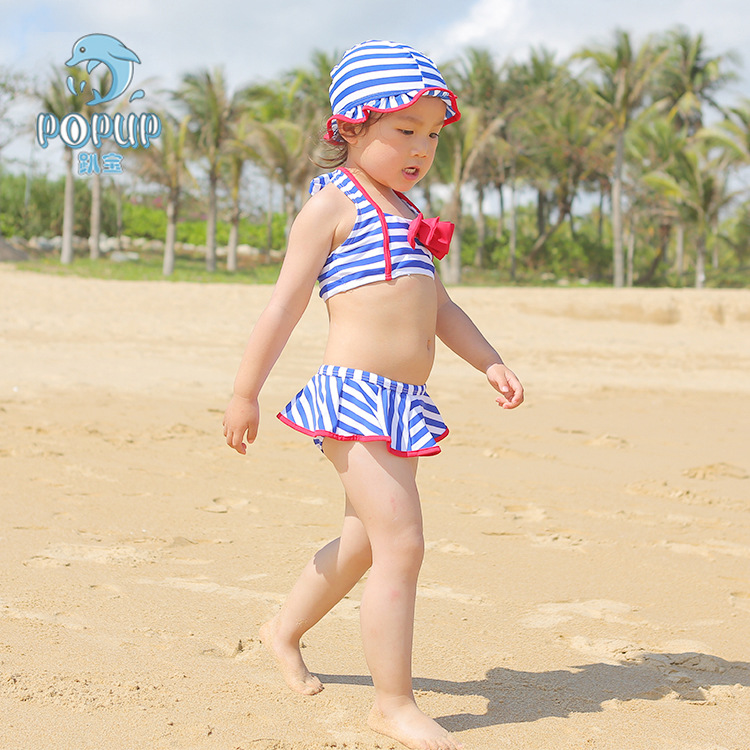 Popup Summer Culottes One-piece GIRL'S Swimsuit Fashion Hot Sales Bow Two-piece Swimsuits