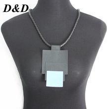 цена на D&D New Long Necklaces & Pendants for Women Collier Femme Geometric Statement Colar Maxi Fashion Leather Necklace Jewelry Gift