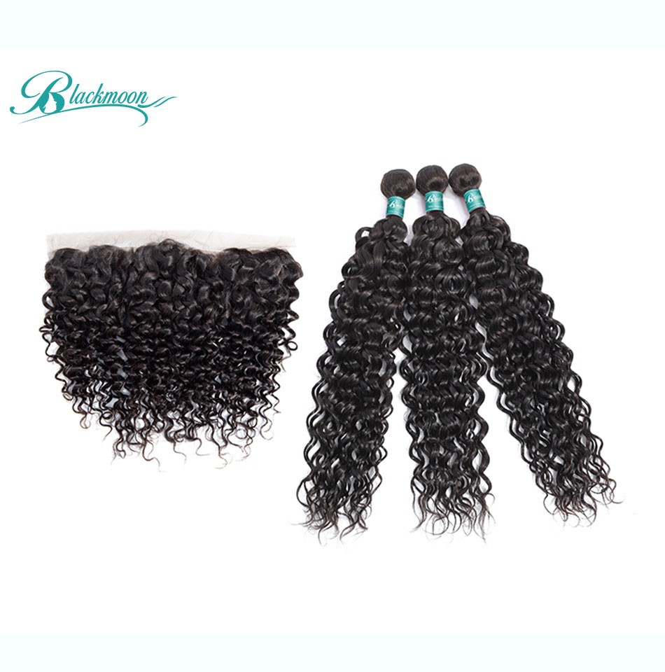 water wave hair weave 3 4 bundles with frontal--3+13_04