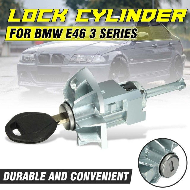 Cilindro de cerradura de puerta para BMW, cilindro de ensamblaje delantero izquierdo y trasero para BMW E46 serie 3