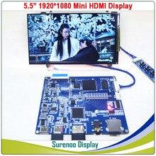 "5.5 ""1080*1920 AUO IPS LCD โมดูลจอแสดงผลหน้าจอ LCM MINI HDMI TO MIPI BOARD"