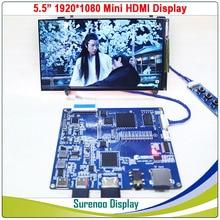 """5.5 """"1080*1920 AUO IPS Modulo LCD Pannello Dello Schermo di Visualizzazione del Monitor LCM con Mini HDMI a MIPI Consiglio"""