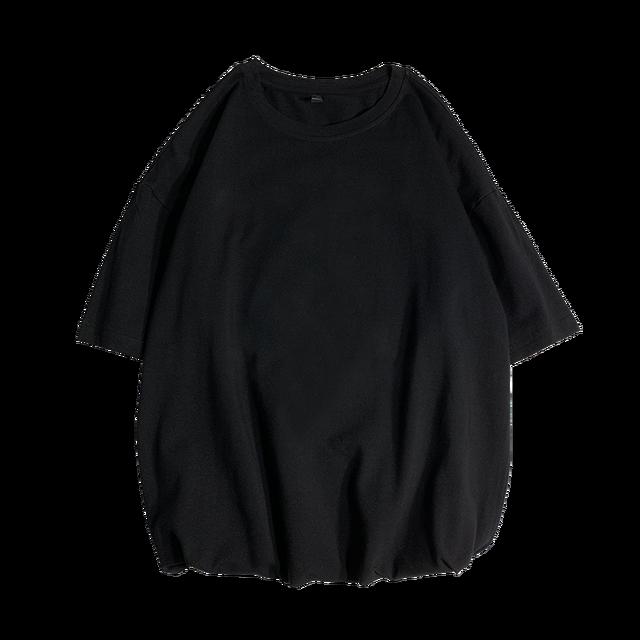 New Summer Men's T Shirt 2021 Fashion Solid T Shirt Mens Oversized Hip Hop Short Sleeve Casual Cotton Mens Streetwear Top Tees 5