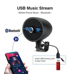 Image 4 - Lexin LX S3 סופר מוסיקה אודיו נגן עם FM רדיו מקלט Bluetooth רמקולים עבור אופנוע עמיד למים נייד סטריאו