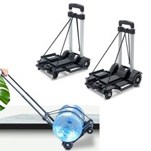 Black Folding Luggage Cart Collapsible Portable Moving Fold Up Dolly Hand Truck 11UA