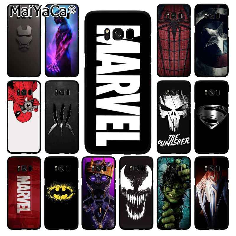 MaiYaCa Marvel Superman Gif Shield Spiderman Logo Telefoon Geval voor Samsung Galaxy S10 Plus S10E S6 S7 S8 S9 Plus s10lite