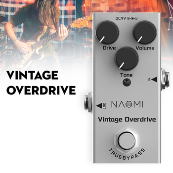 Electric Guitar Effect Pedal Mini Single Vintage Overdrive True Bypass NAOMI Effect Pedal Guitar Effect Pedal mosky mp 51 spring reverb mini single guitar effect pedal true bypass guitar parts