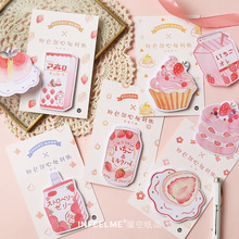 Pink Strawberry Series Memo Pads Kawaii Stationery Sticky Notes Paper Bookmarks School Office Supply Papelaria