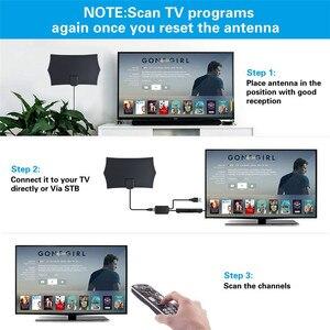 Image 3 - DVB T2 テレビ空中 300 マイルテレビアンテナデジタル HDTV アンテナ屋内 1080 1080P なしアンプ信号ブースター半径サーフキツネ