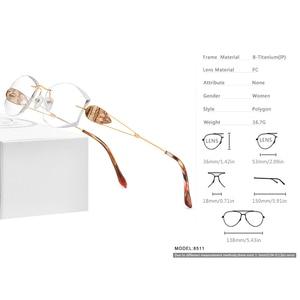 Image 4 - Fonx 와이어 티타늄 무테 안경 여성 Ultralight 럭셔리 다이아몬드 트림 처방 광학 안경 프레임 안경 8511
