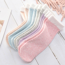 7 Color Fashion Warm Socks Winter Women Colored Cotton Plus Velvet Thickening Breathable Cashmere Snow Keep Sleeping