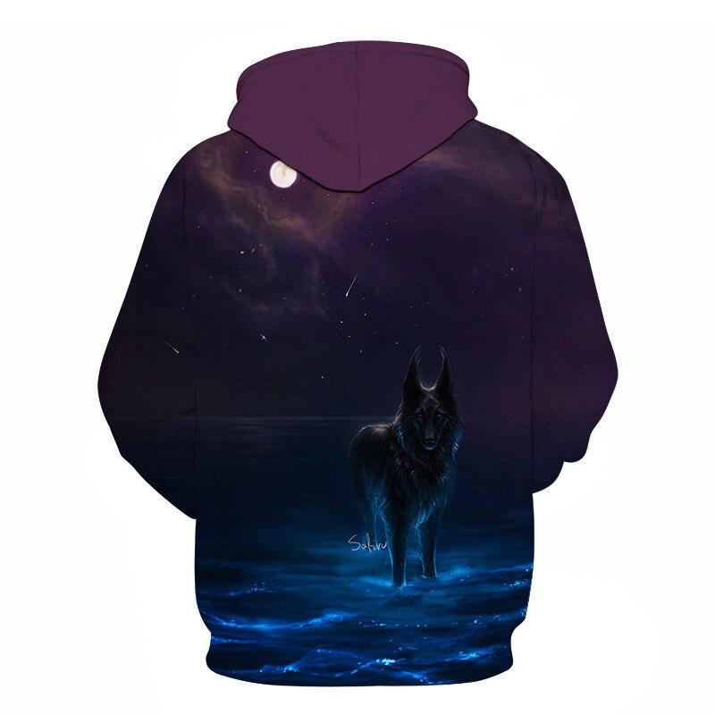 Wolf Printed Women 3d Hoodies Brand Sweatshirts Girl Boy Jackets Pullover Fashion Tracksuits Animal Streetwear Lovers Sweatshirt 70