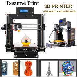 hot selling Upgraded Full Quality High Precision Reprap Prusa i3 DIY 3D Printer for modeling UK USA Stock