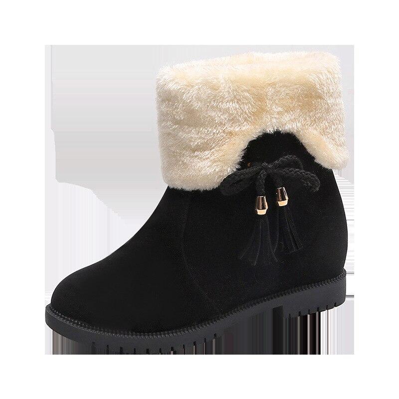 quadrado moda feminina borboleta-nó deslizamento-em botas pretas