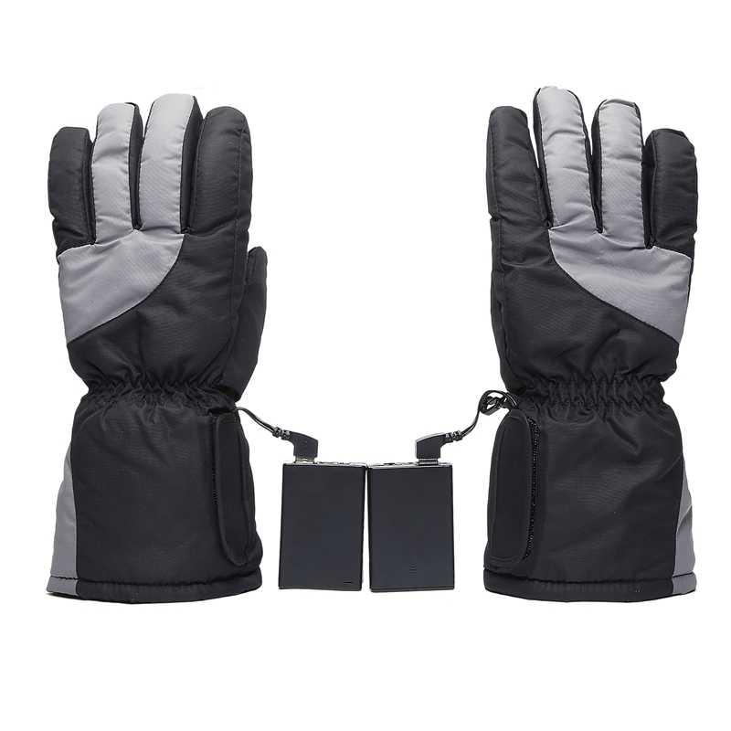 Перчатки с подогревом с перезаряжаемой батареей, для езды на мотоцикле, катания на лыжах, для пеших прогулок