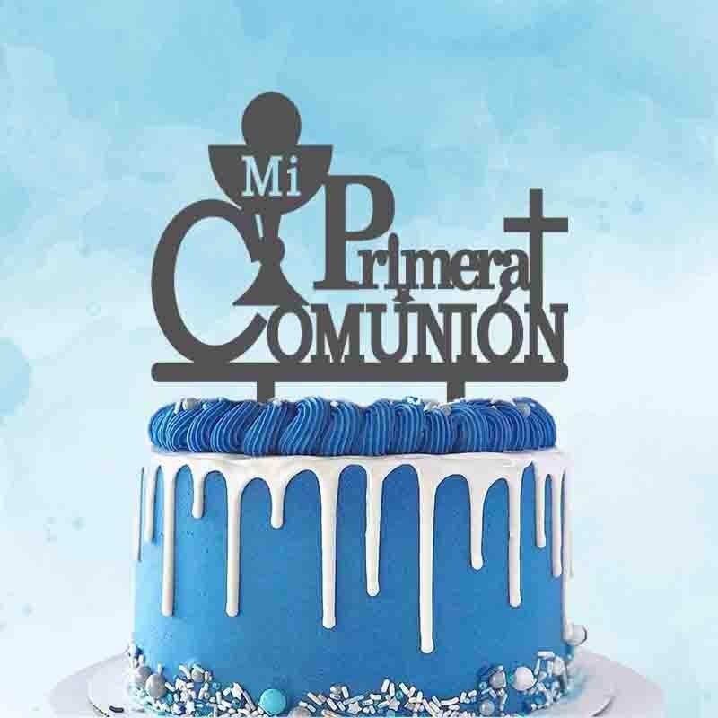 Personalized Kids Communion Party Cake Topper Spanish Mi Primera Comunión Topper For Primera Comunión Party Cake Decoration