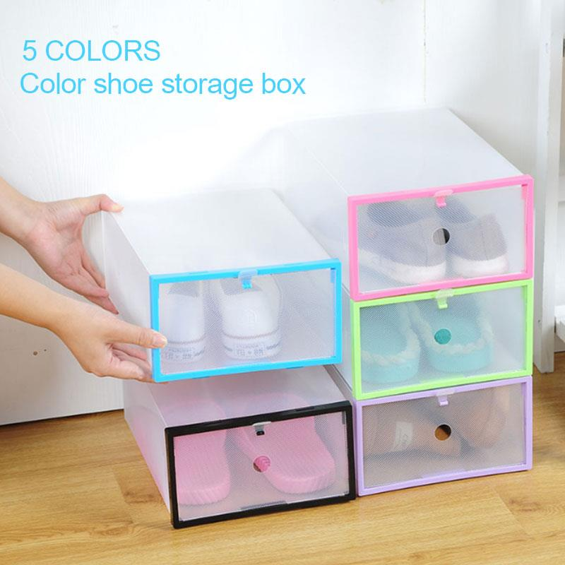 Durable PP Foldable Box Shoe Box Household Supplies Closet Storage Housekeeping Home Convenient Organization Save Space