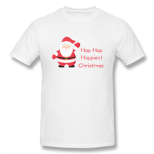 100% cotton Hap Happiest Christmas print casual mens o-neck t shirts fashion Mens Basic Short Sleeve T-Shirt