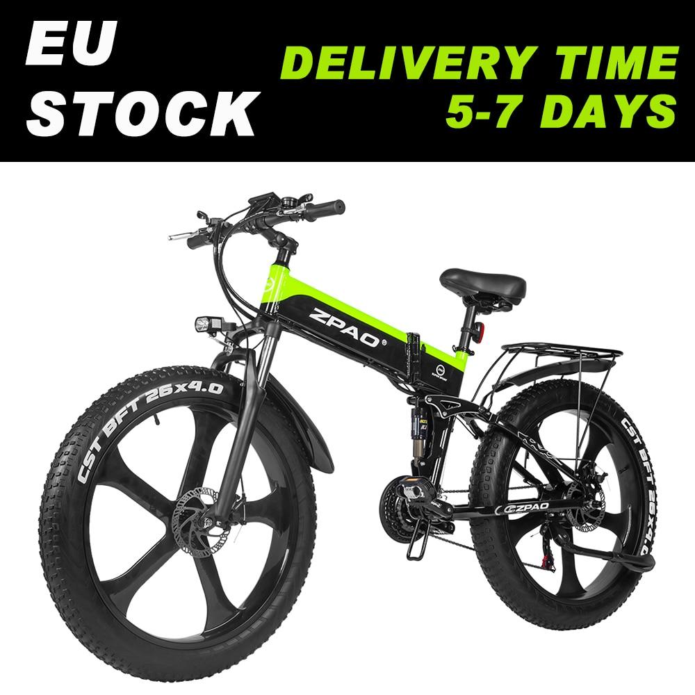 ZPAO электрический велосипед с крупными покрышками для езды по Электрический 1000w пляжные горный велосипед Снежный велосипед 26